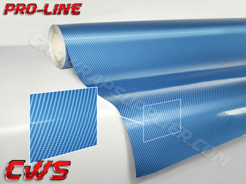 Carbon Fiber Tech Art Blue 187 Cws
