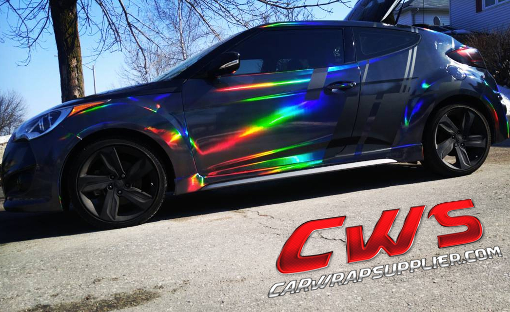 Holographic Chrome Black Cws