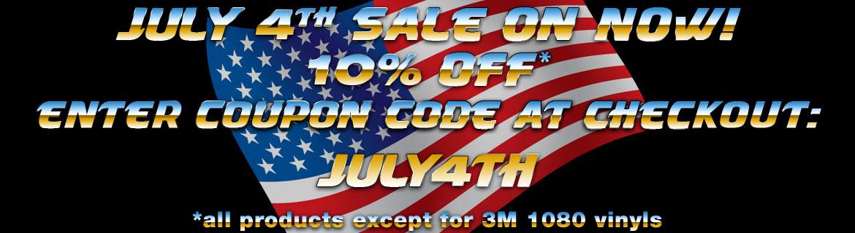 July 4th Sale Car Wrap Vinyl 10% OFF