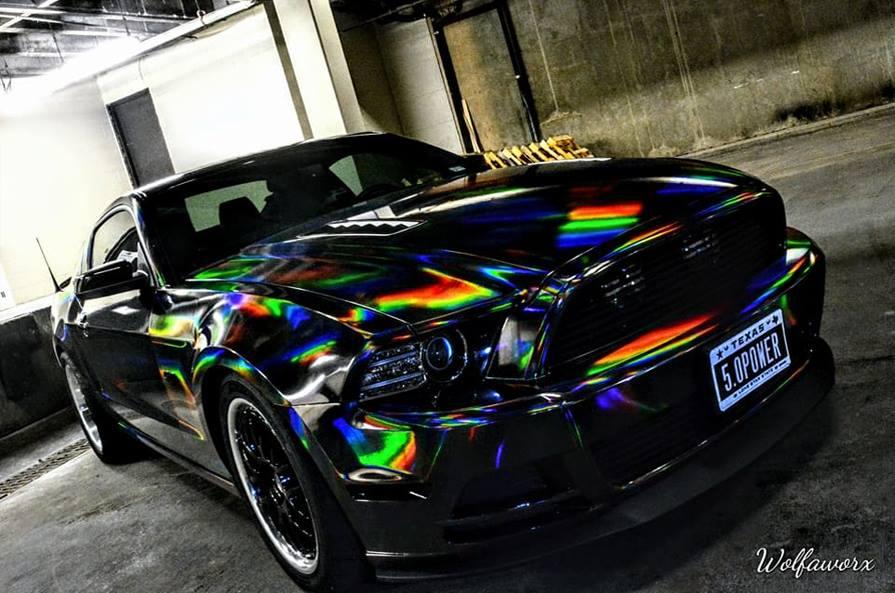 Car Vinyl Wrap Cost >> Holographic Chrome Black