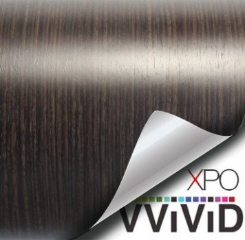 ebony architectural wood grain vinyl wrap