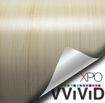 white maple architectural wood grain vinyl wrap