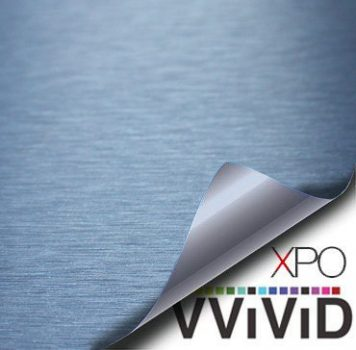 Brushed Aluminum Navy Blue Vvivid Vehicle Vinyl Film