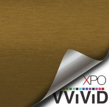 Brushed Aluminum Gold Vvivid Vehicle Vinyl Film