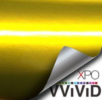 Liquid Metal Yellow vinyl wrap