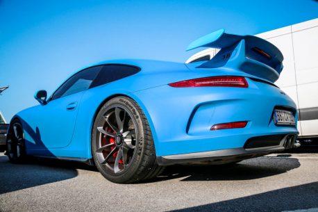 Premium Plus Matte Smurf Blue car wrap vinyl film