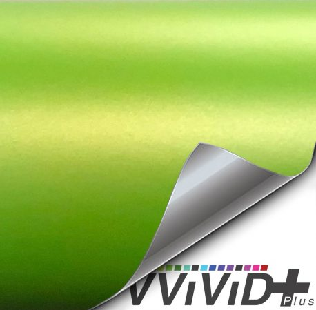 Premium Plus Matte Metallic Viper Lime Green car wrap vinyl film