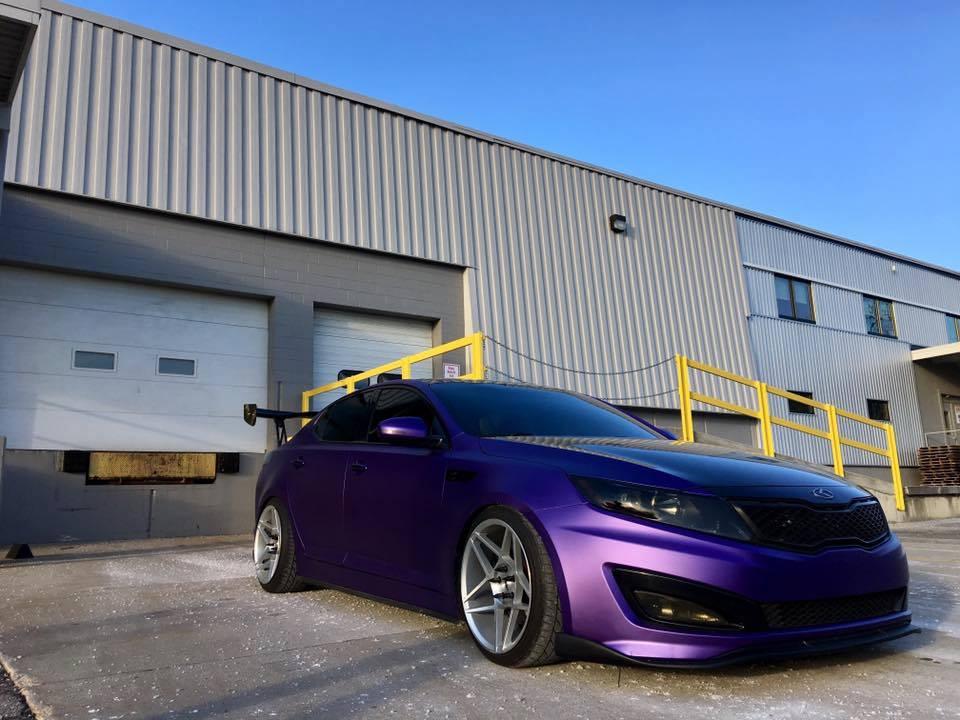 Premium Matte Metallic Purple Ghost Cws